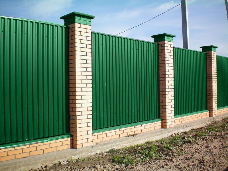 картинки забор из профнастила