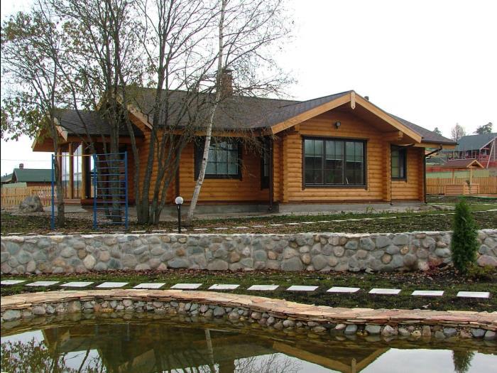 Строительство деревянных домов из оцилиндрованного бревна