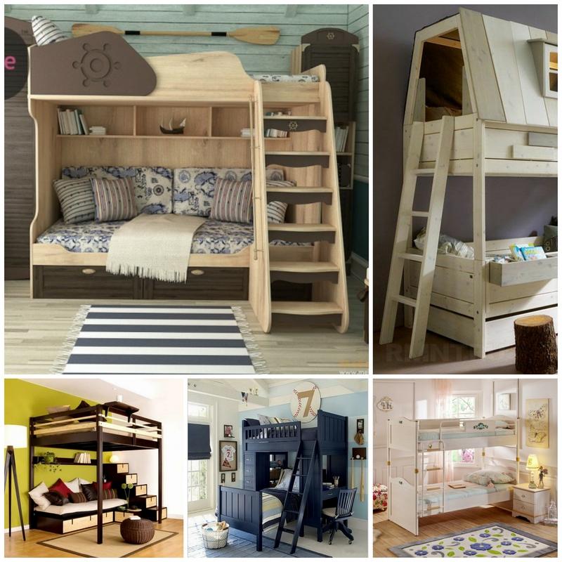 Детские комнаты с двухъярусной кроватью - фото примеров | 800x800