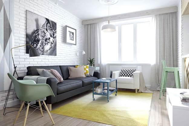 Светлые обои в интерьере гостиной, спальни, кухни, прихожей