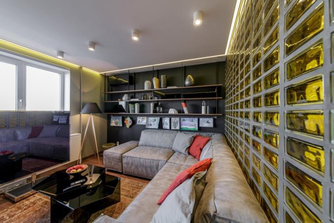 Стеклоблоки в интерьере квартиры, фото, рекомендации, советы