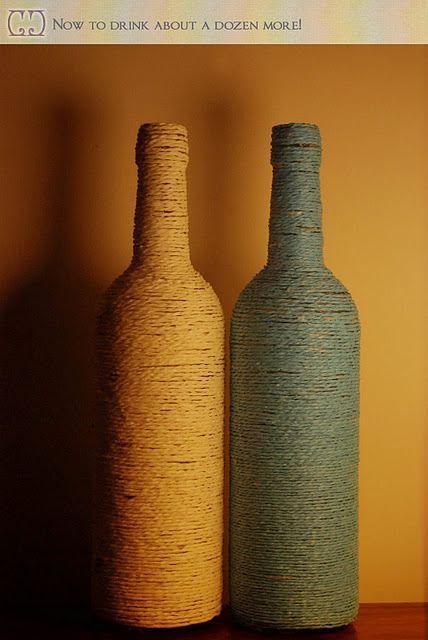 {своими руками} Декорирование винных бутылок