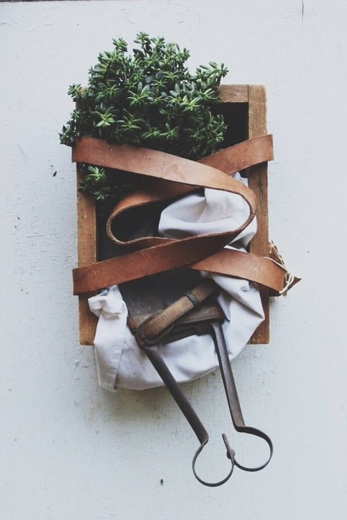 Использование старой кожи в декоре. 15 Идей