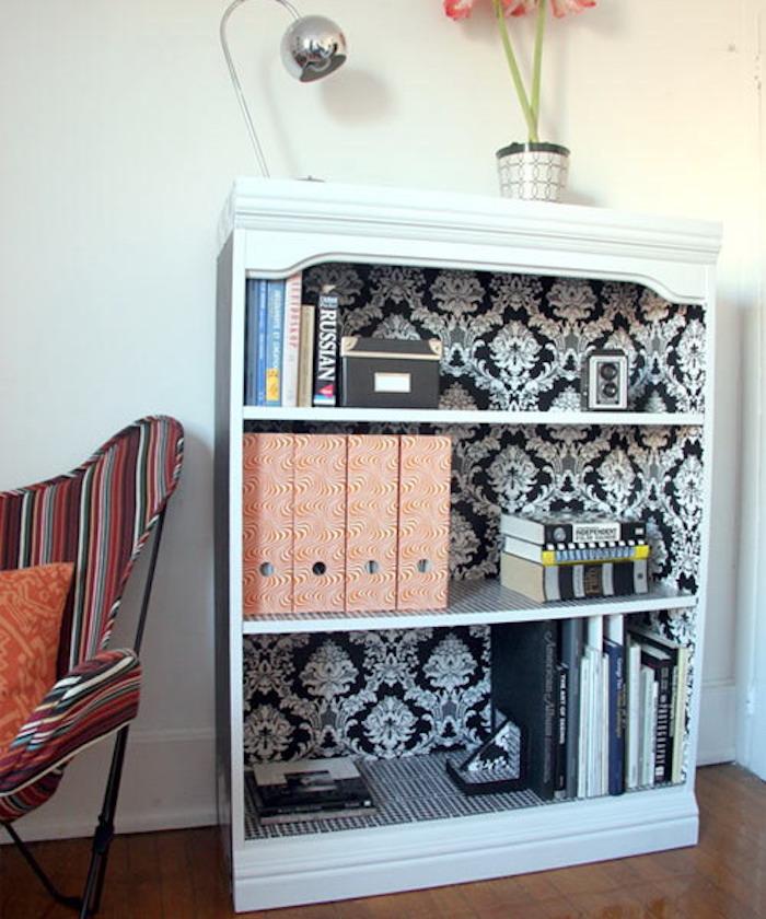 Как обновить шкаф с помощью обоев, 45 Идей
