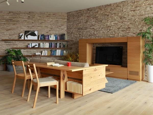 Многофункциональный диван для гостиной от Hirashima