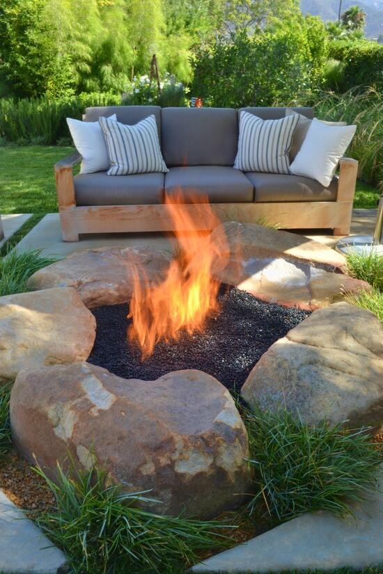 30 Простых примеров: как самому сделать кострище в саду