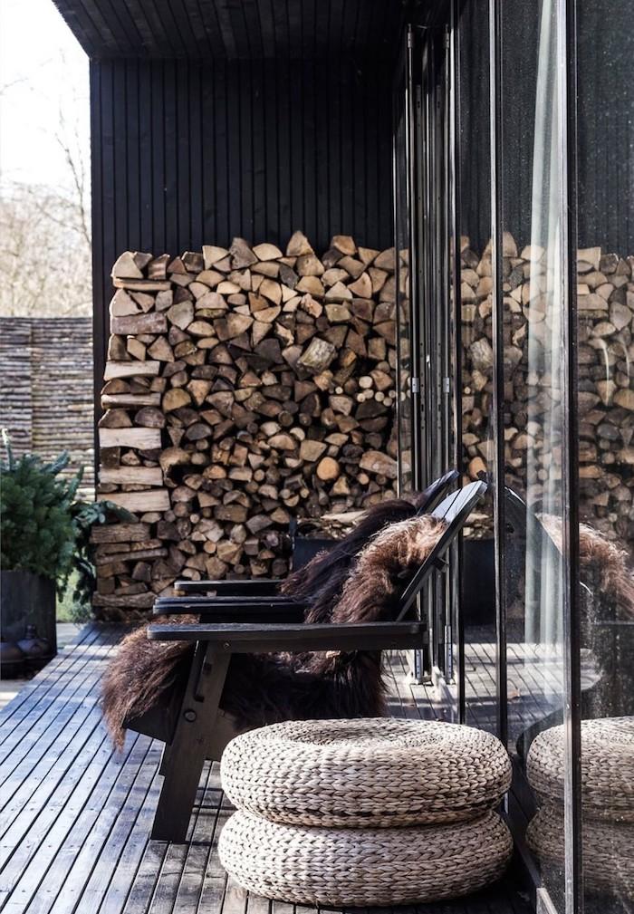 20+ Превосходных способов хранения дров на приусадебном участке