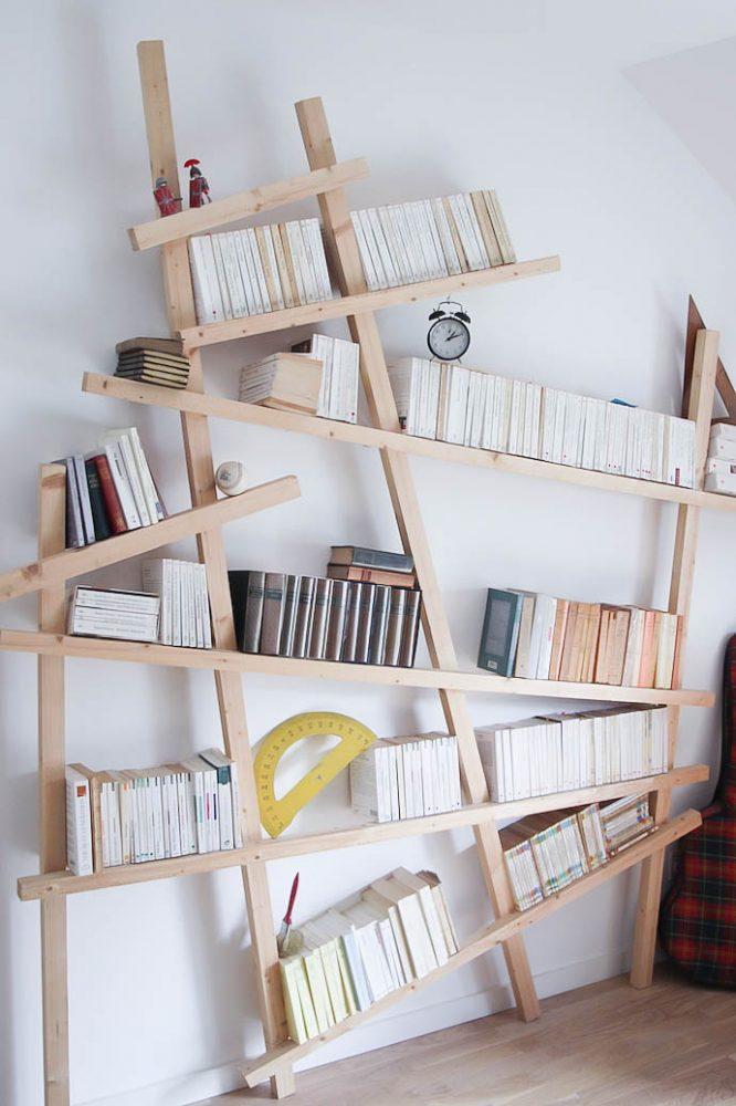 Как делать стеллаж из деревянного бруса