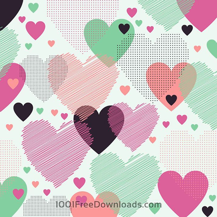 67 Фонов и паттернов ко Дню Влюбленных