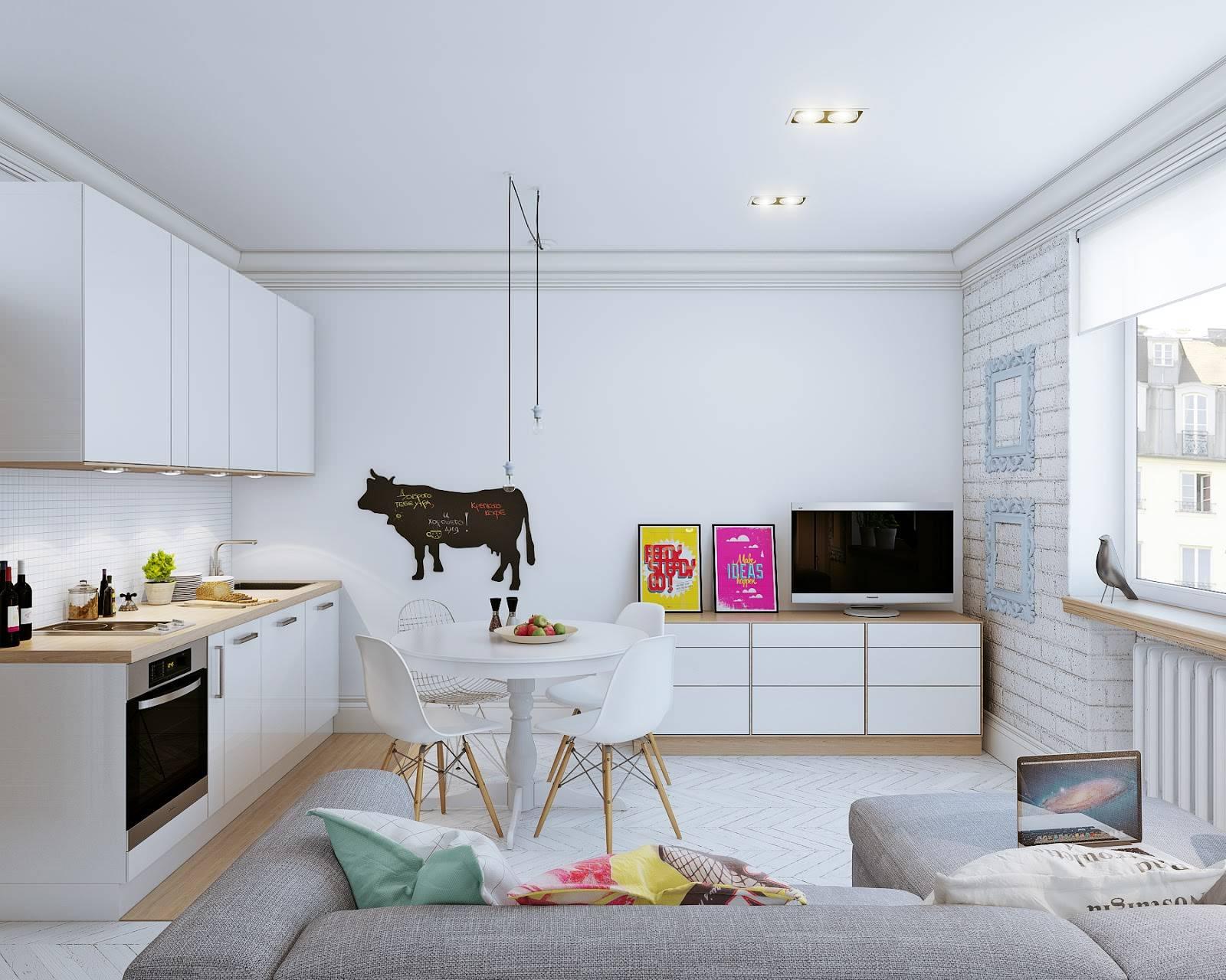 Интерьер маленькой квартиры-студии 24 кв. м. в скандинавском стиле (9)