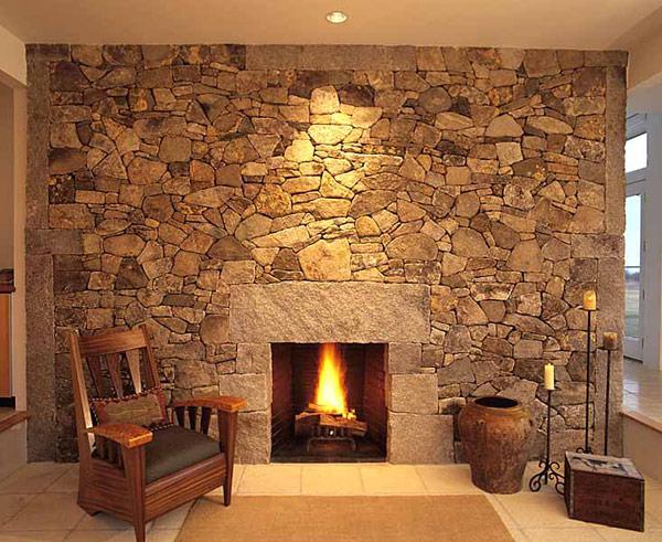 30 Идей уютных каминов с камня