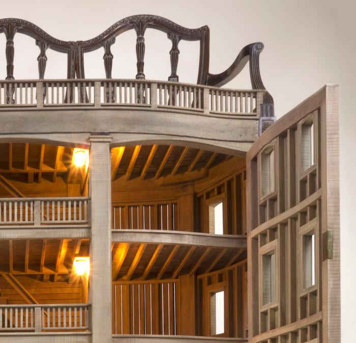 Тед Лотт создает чудные архитектурные модели, совмещая их с винтажной мебелью