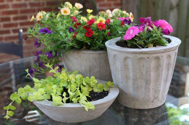 33 Простых цветочных горшка, которые можно сделать из обычного цемента