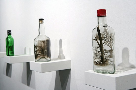 Рисование на бутылках