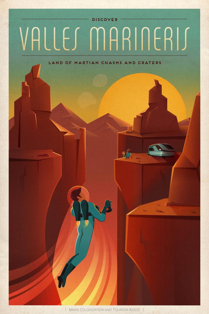 Скачать винтажные постеры от NASA и SpaseX. ТОП 18