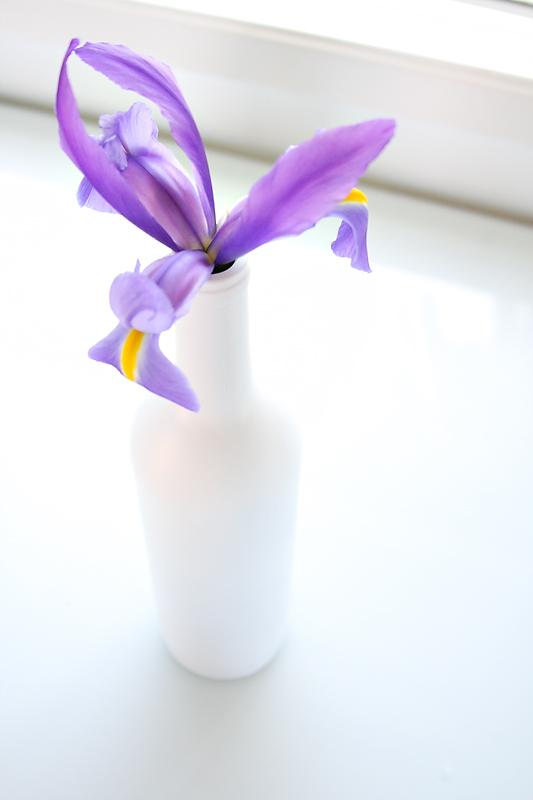 Ваза из использованной бутылки
