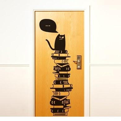 Креативный декор: Наклейки в виде кошек {идея}