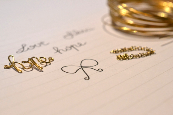 Золотой именной браслет своими руками