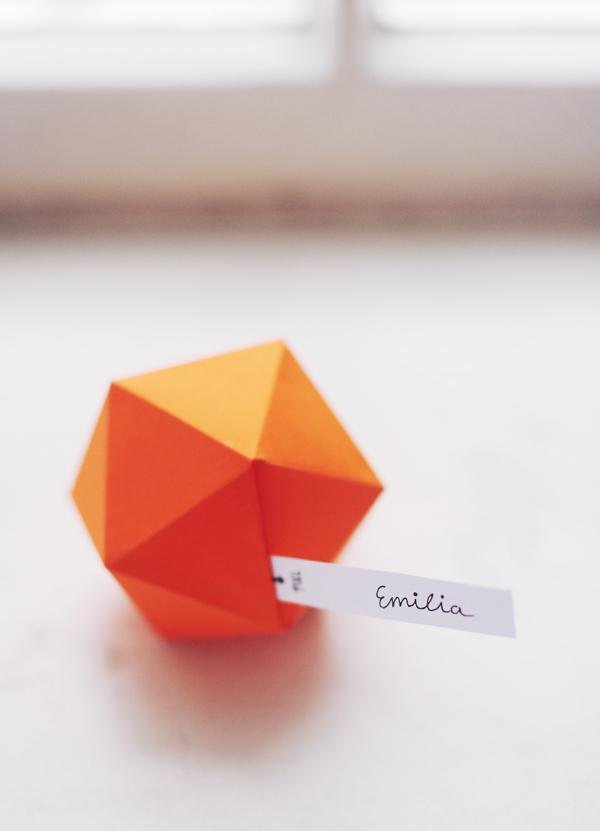Геометрические коробочки из бумаги