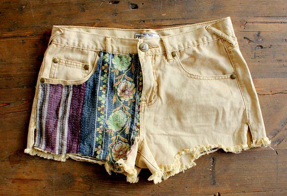 Декор джинсовых шорт