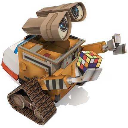 Бумажная модель Wall-E {Оригами}