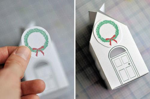 Подарочная упаковка. Домик из картона