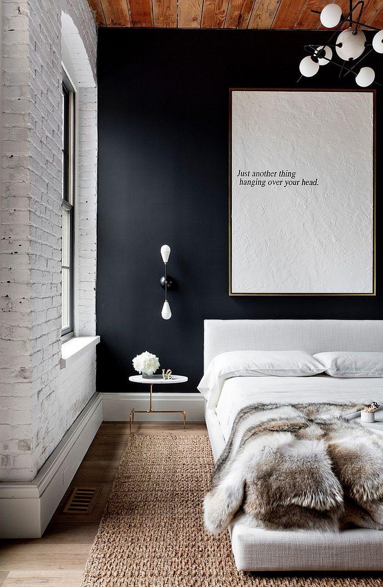 Спальные комнаты с кирпичной кладкой. ТОП 50