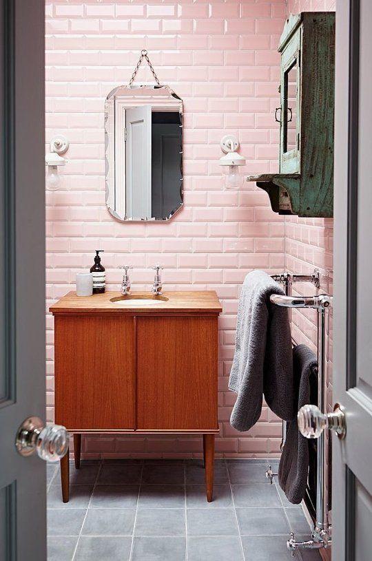 Сочетание серого и розового цветов в интерьере. ТОП 30